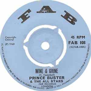 Prince Buster & Prince Buster's All Stars - Wine And Grine  The Scorcher Album